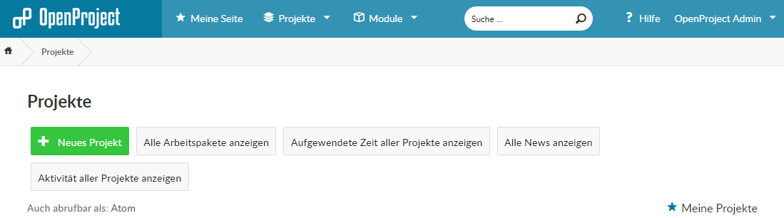 OpenProject Project New